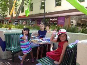 Kids Land stallholder girls