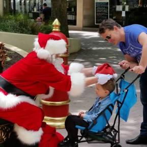 Santa hat and pram